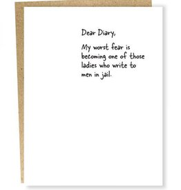 Dear Diary - Jail Card