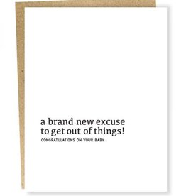 New Excuse Baby Card