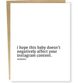 Instagram Content Baby Card