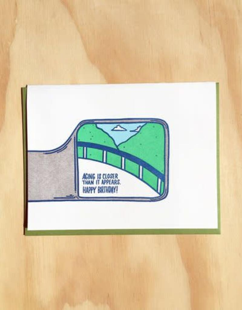 Rearview Birthday Card