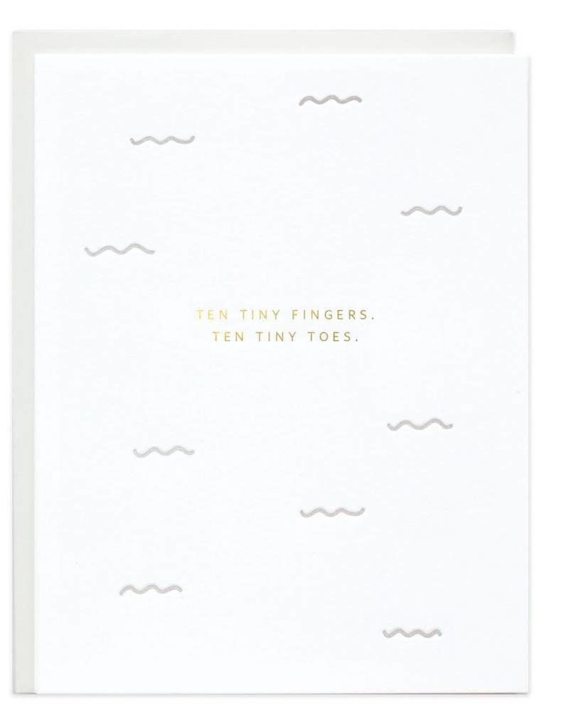 Ten Tiny Fingers Card