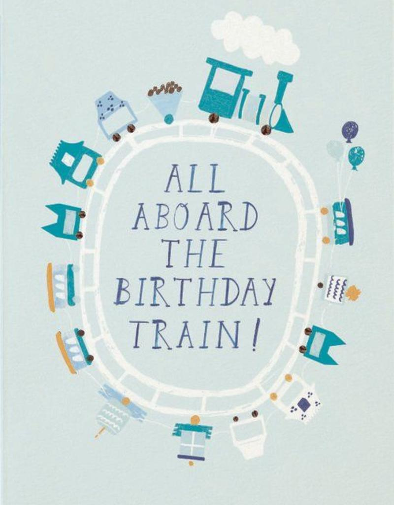 All Aboard the Birthday Train Card