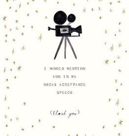 My Oscar Speech Card