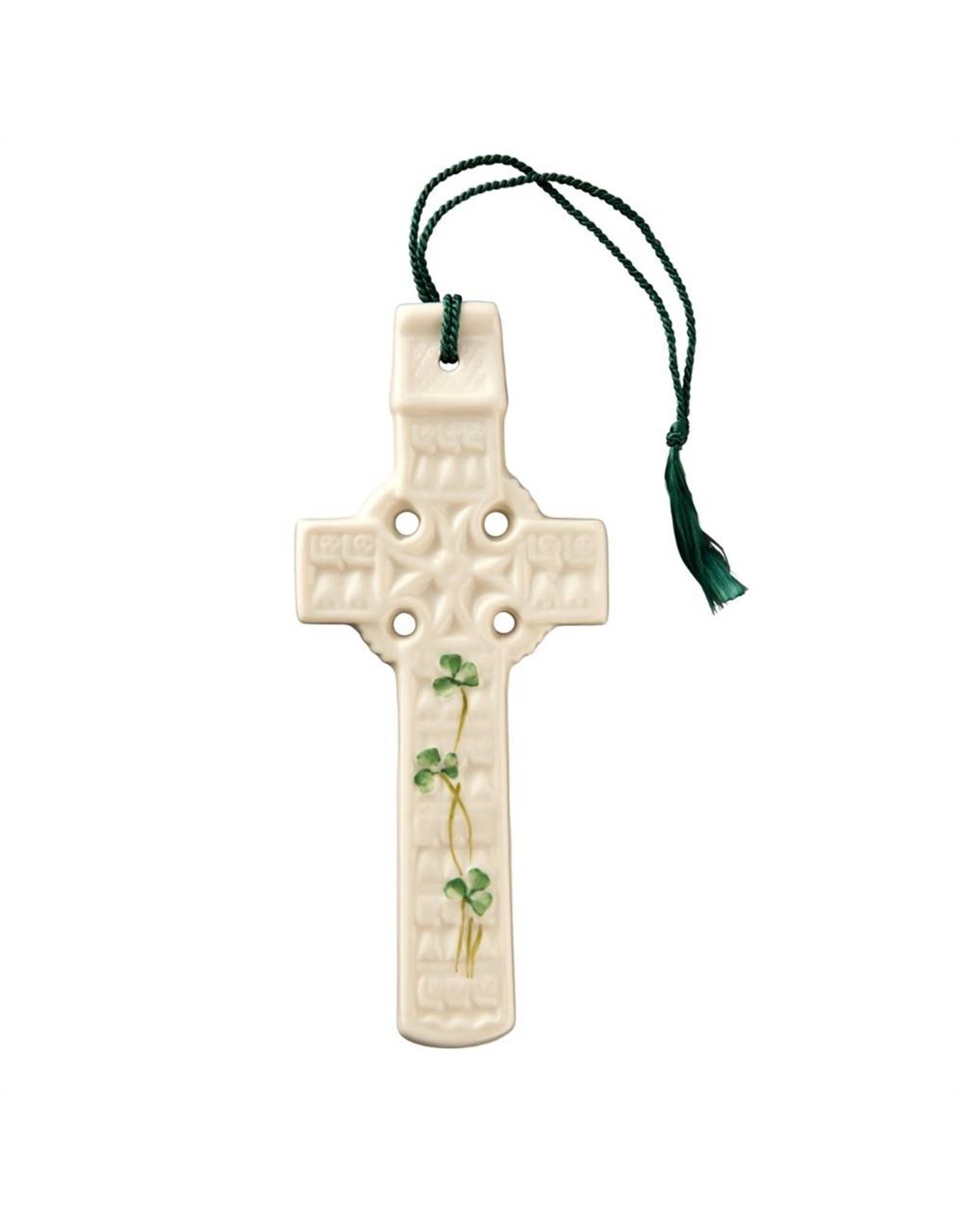 Belleek Belleek Celtic Shamrock Cross