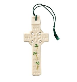 Belleek Belleek Celtic Shamrock Cross