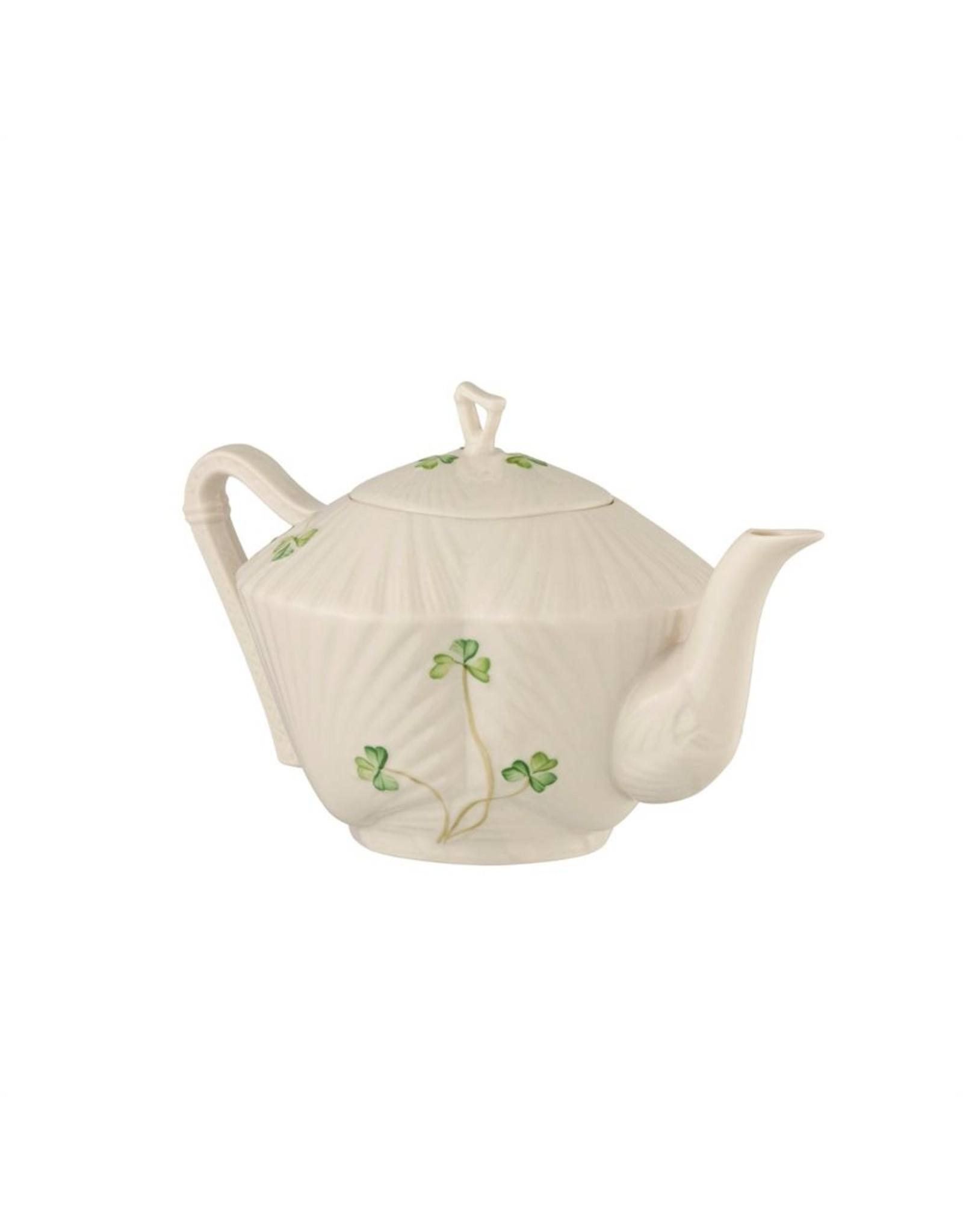 Belleek Belleek Harp Shamrock Tea Pot