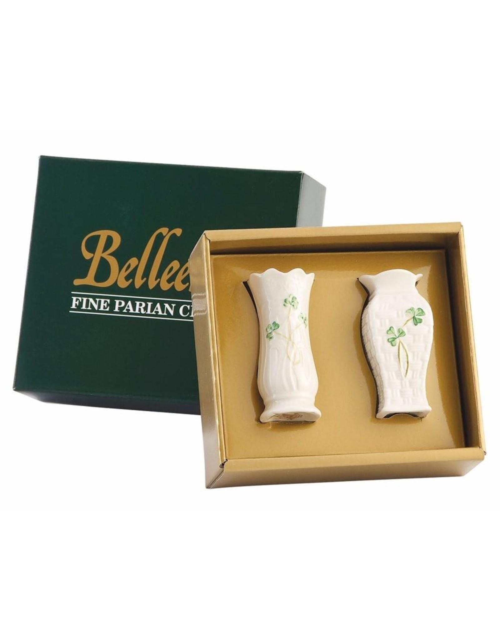 Belleek Belleek: Set of 2 Mini Vases