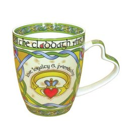 Royal Tara Claddagh Ring China Mug:  Irish Weave