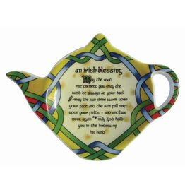 Royal Tara Irish Blessing Tea Bag Holder:  Irish Weave