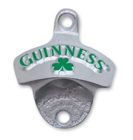Guinness Guinness Wall Mounted Bottle Opener- Green w/ Shamrock