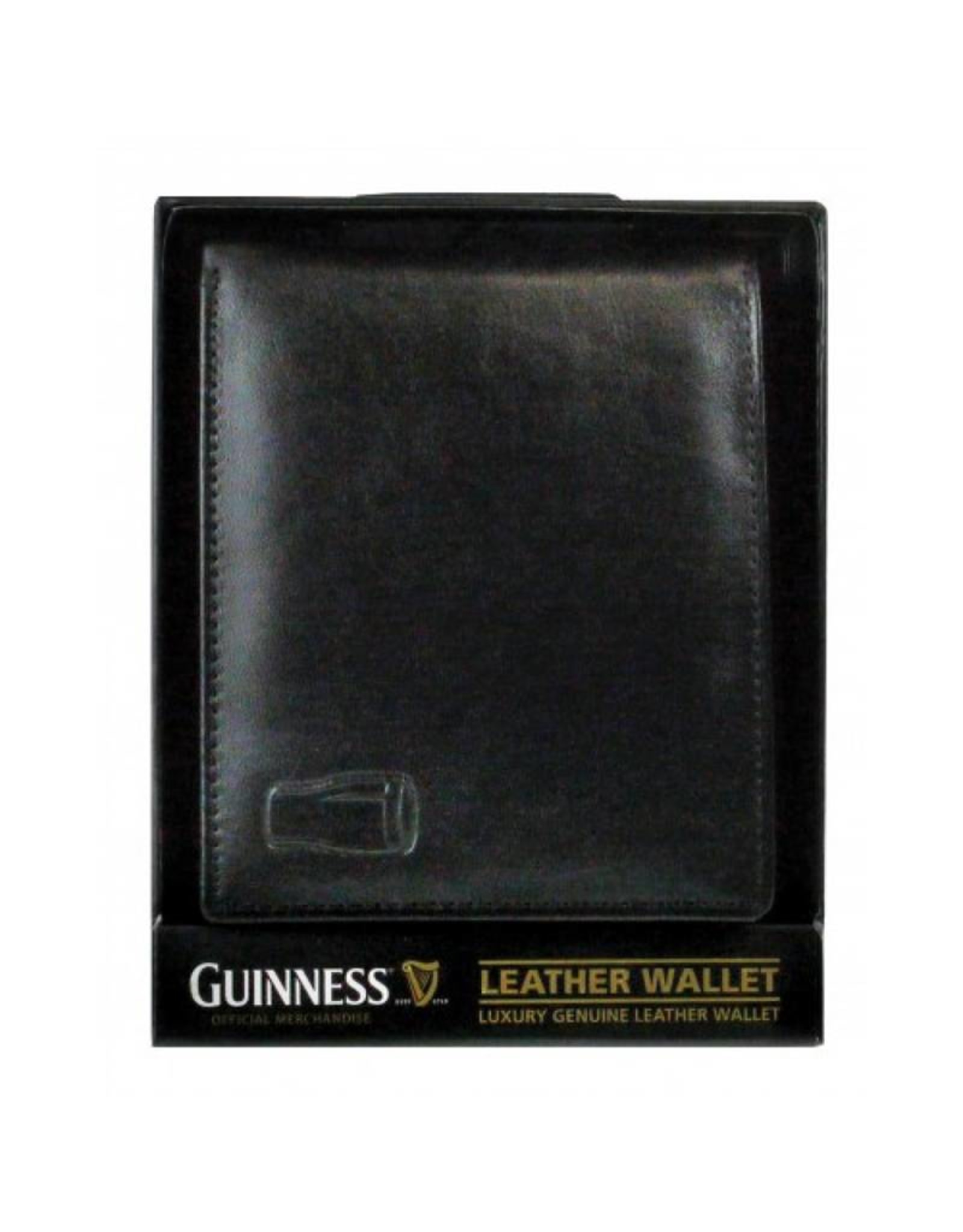 Guinness Guinness Leather Wallet: Black