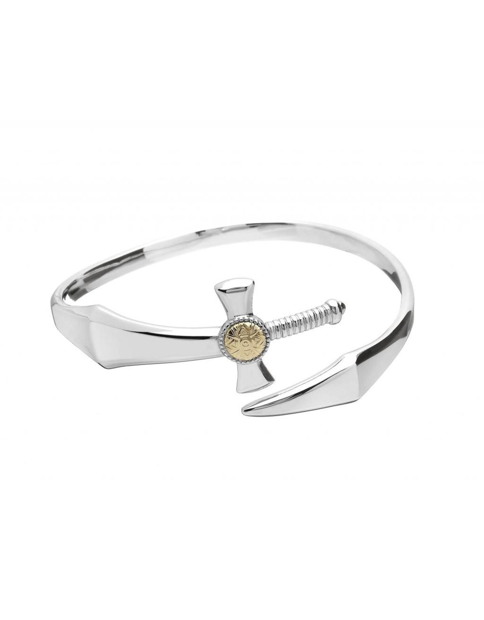 Boru Jewelry S/S + 18k Nuada Sword Bangle Bracelet