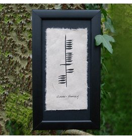 Ogham Wishes Framed Ogham Clann-Family