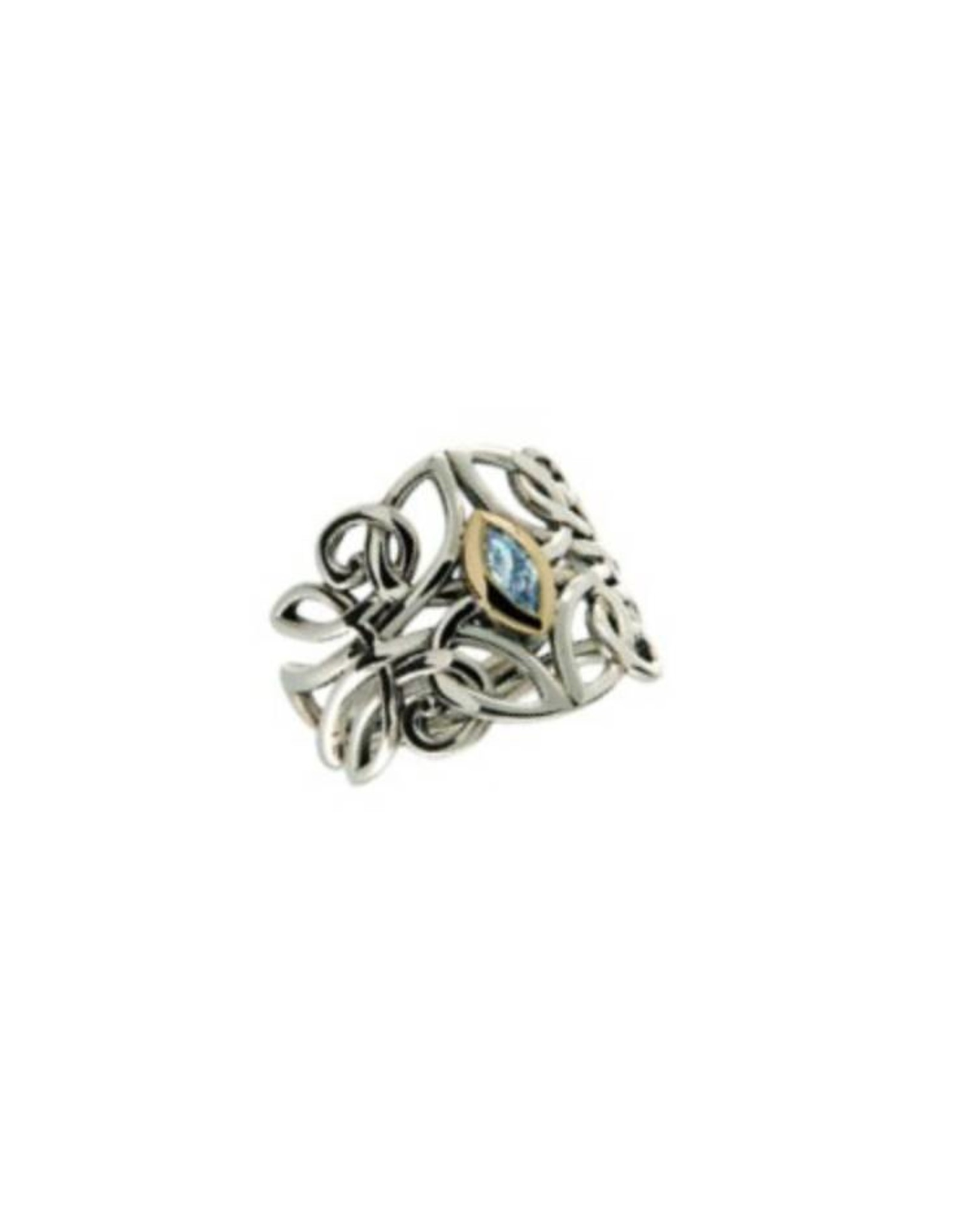 Keith Jack Celtic Guardian Angel Ring Blue Topaz