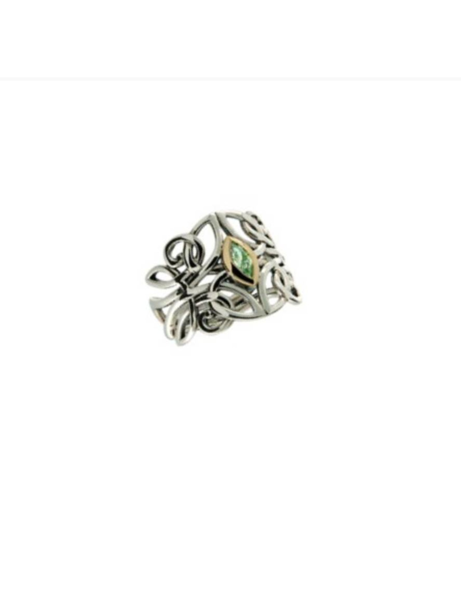 Keith Jack Celtic Guardian Angel Ring Peridot