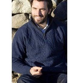 Aran Woollen Mills Aran 1/4 Zip Lined Sweater