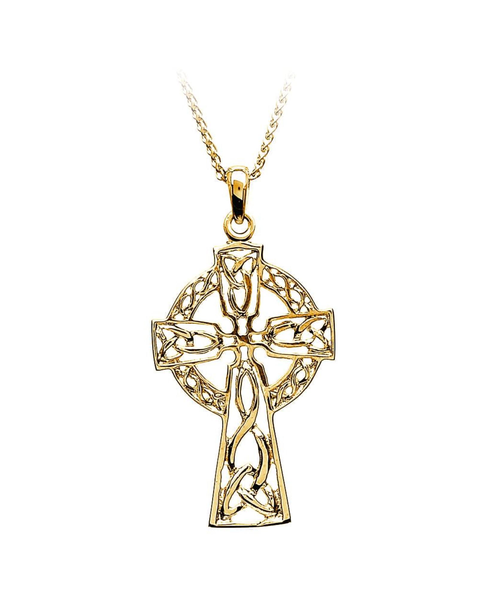 Boru Jewelry 14k Gold Filigree Celtic Cross - Large