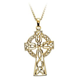 Boru Jewelry 14k Gold Filigree Celtic Cross - Large