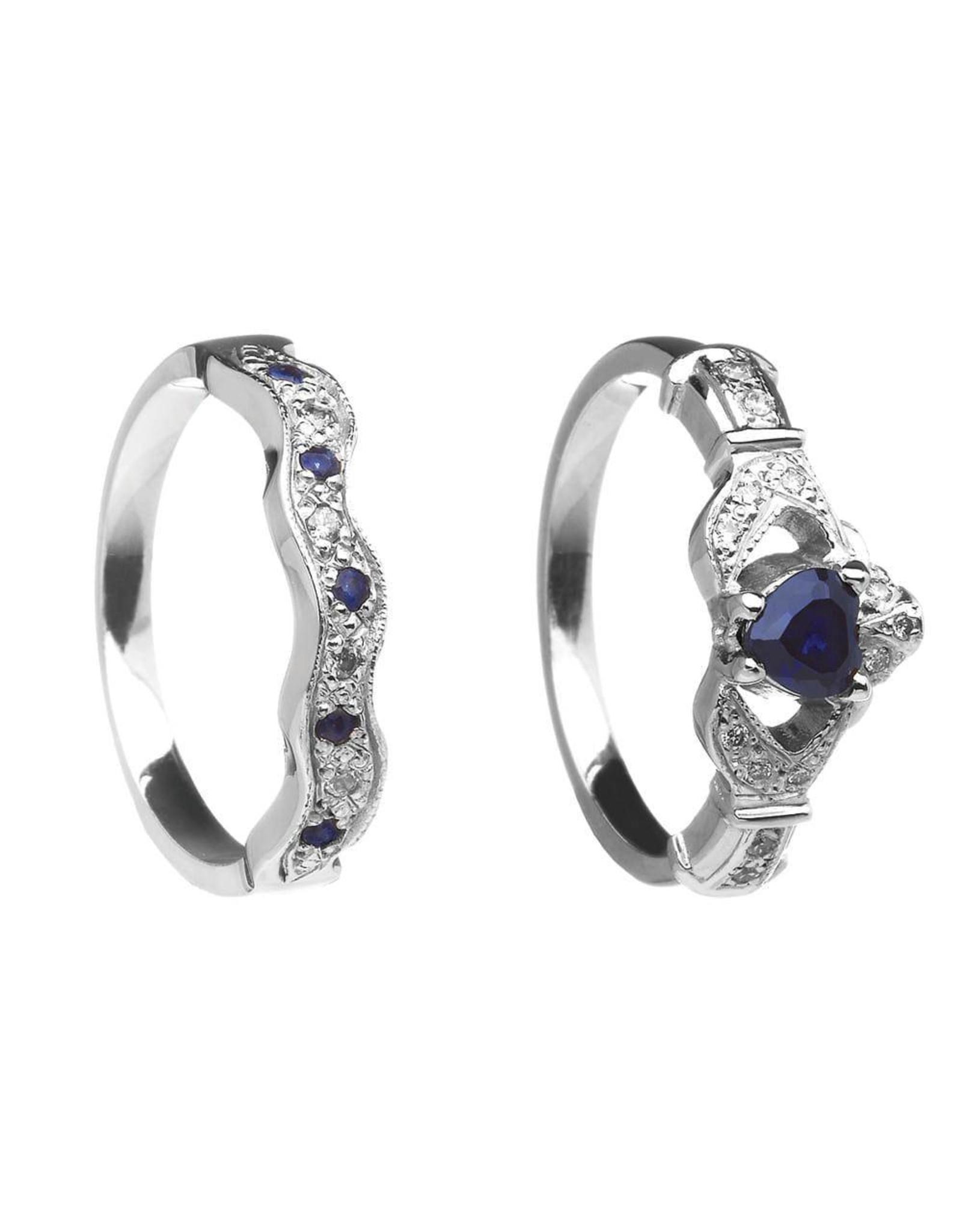 Boru Jewelry Diamond + Gemstone Claddagh Ring & Band