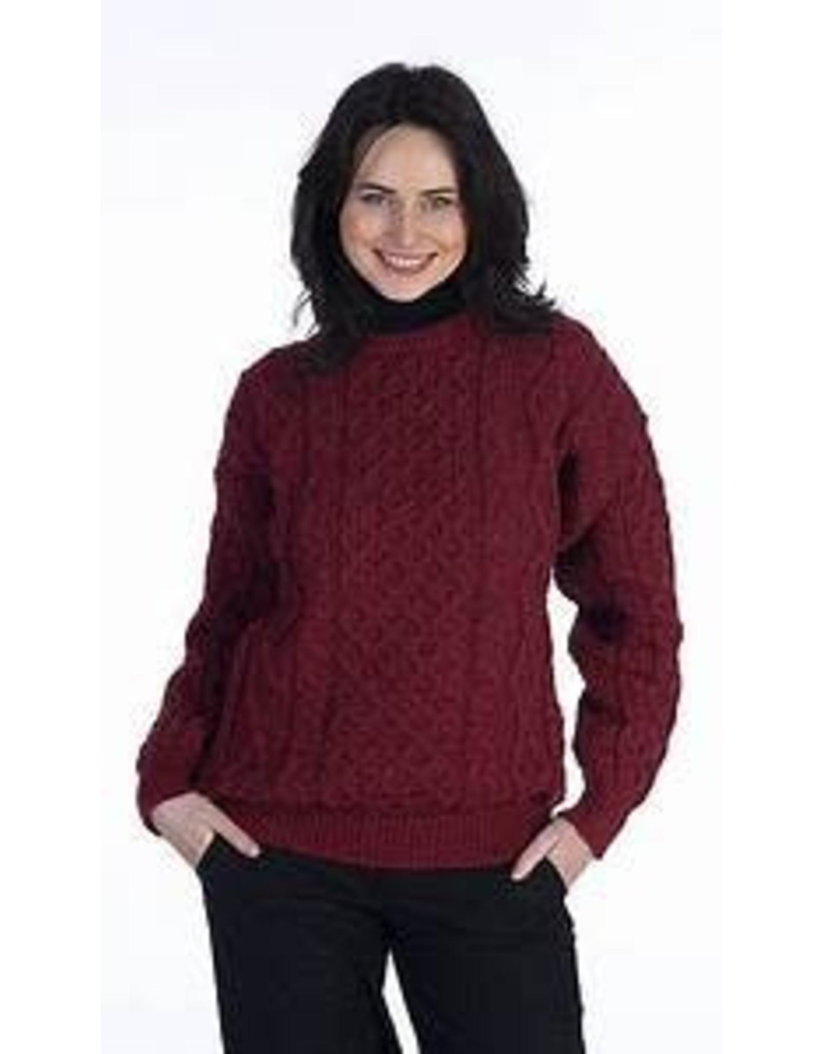 Kerry Woolen Mills Aran Sweater:  Pure New Wool