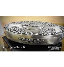 Mullingar Pewter Mullingar Pewter Claddagh Jewelry Box: Oval