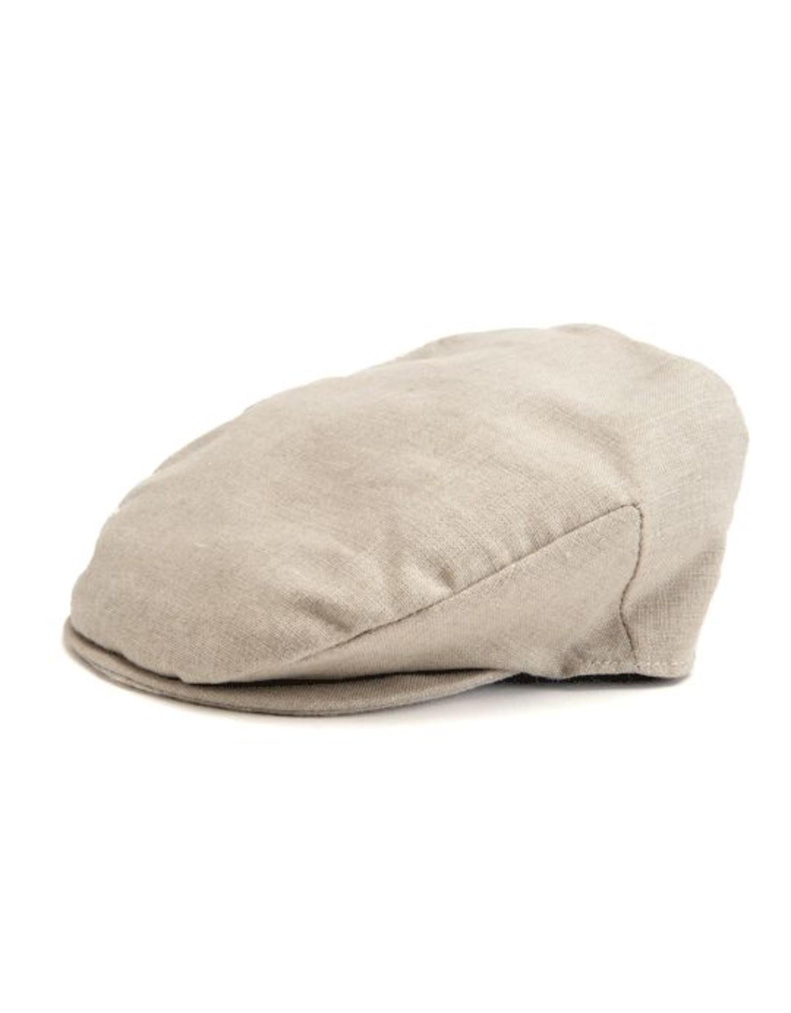 Hanna Hats Hanna Hats Vintage Linen Flat Cap