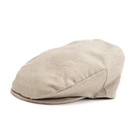 Hanna Hats Vintage Linen Flat Cap
