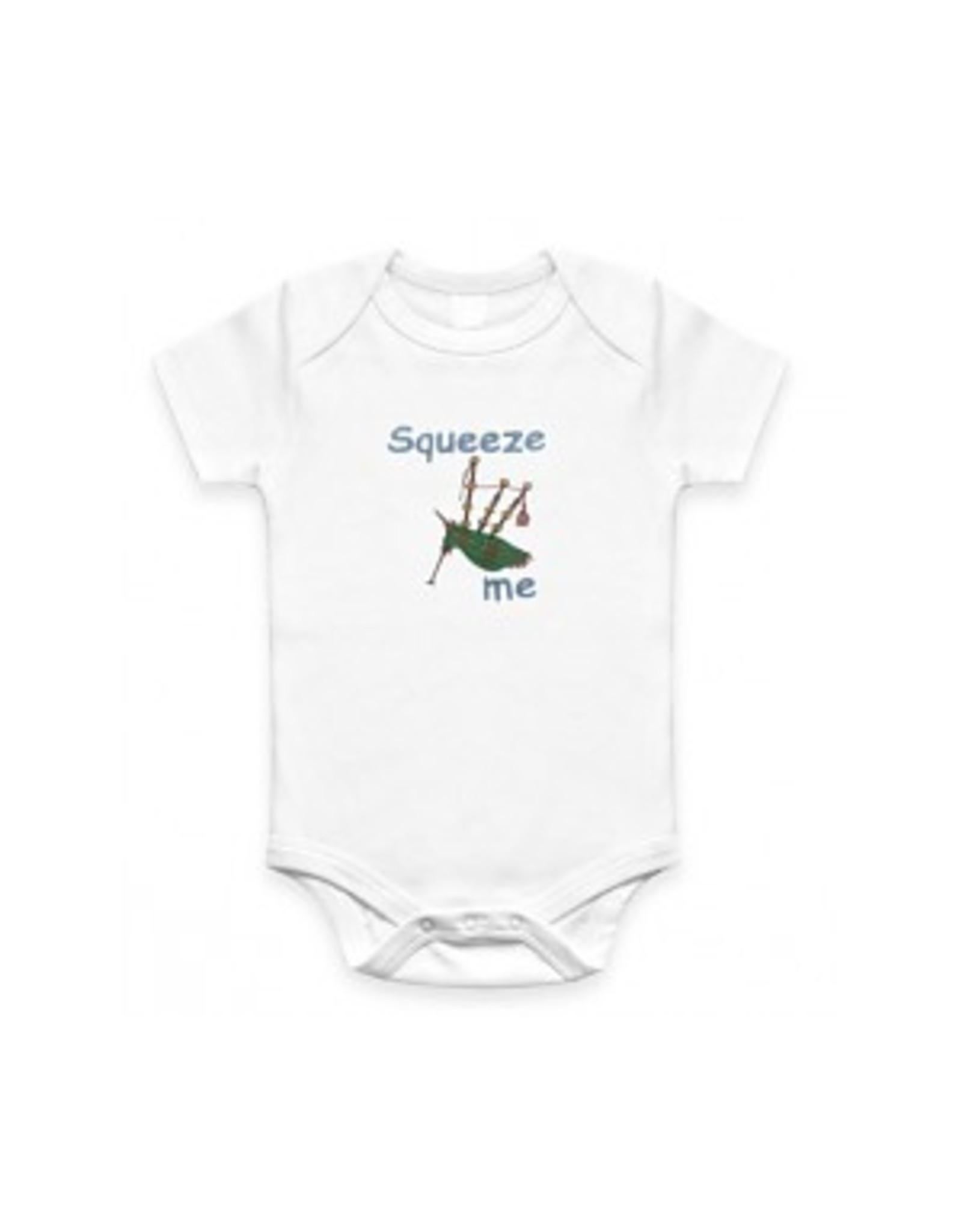 Wee Ones Squeeze Me Onesie: Mint Green
