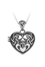 Boru Jewelry Puffed Heart Claddagh Locket