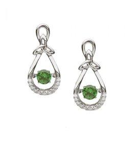 Boru Jewelry Trinity Drop Earrings with Dancing  Stone