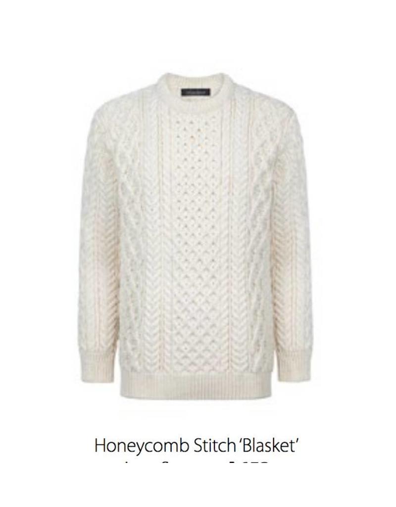 Ireland's Eye Unisex Honeycomb Stitch Blasket Sweater