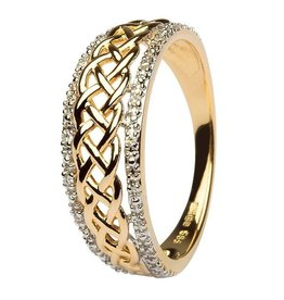 Shanore 14k Yellow Gold Celtic Knot Diamond Ring