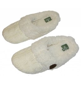 Aran Woollen Mills Adult Knitted Slip-on Slippers