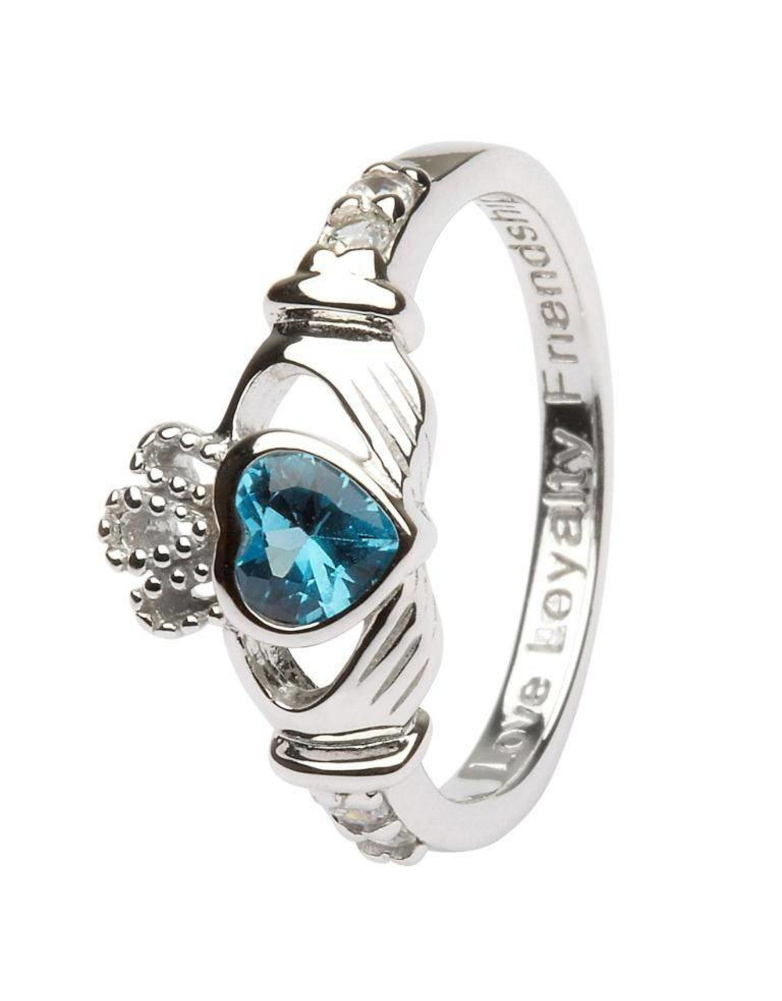 Shanore December Birthstone Claddagh Ring