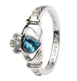 Shanore December Birthstone Claddagh Ring