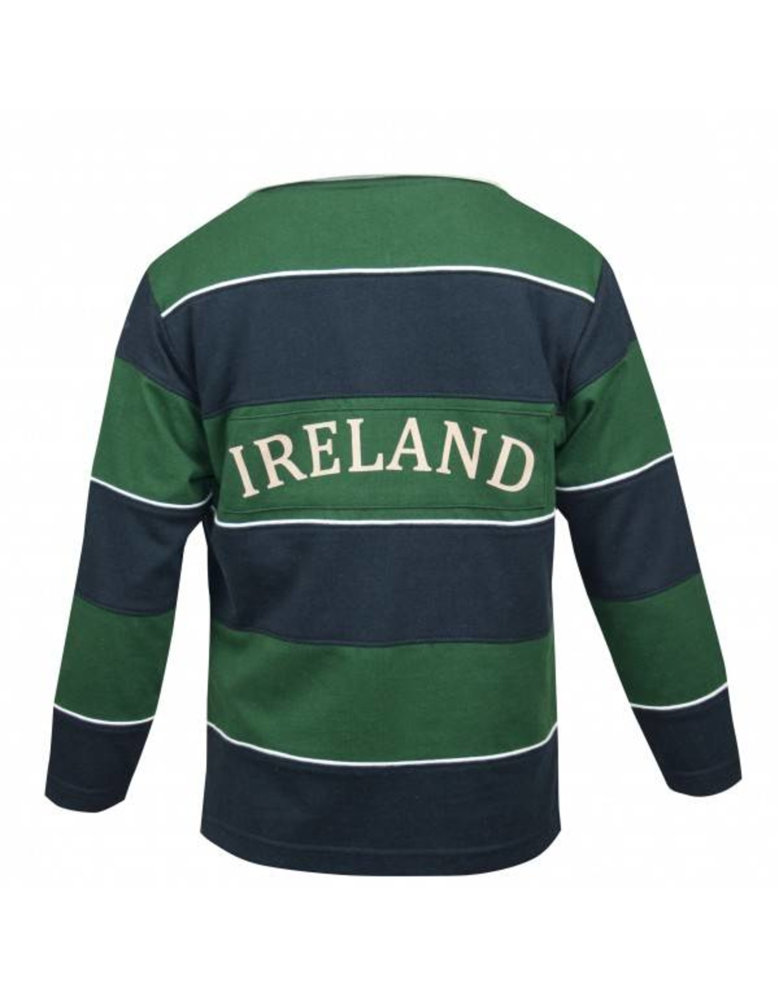 Croker Kids Green and Navy Striped Rugby