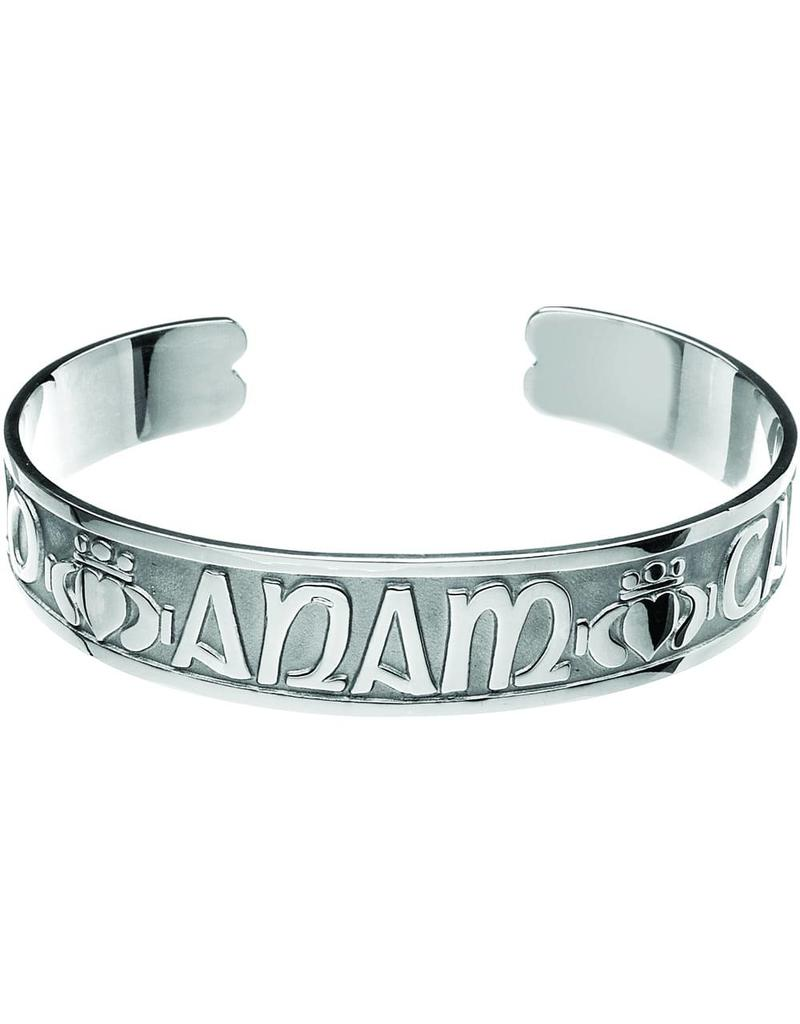 bb956852658057 Silver Mo Anam Cara Bangle - Celtic Aer Gift Shop
