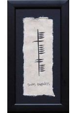 Ogham Wishes Framed Ogham: Sonas-Happiness