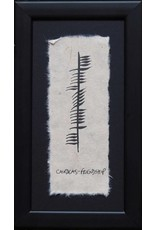 Ogham Wishes Framed Ogham:  Cairdeas-Friendship