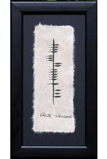 Ogham Wishes Framed Ogham: Failte-Welcome