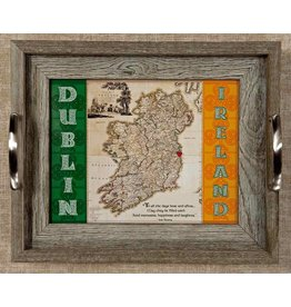 Mundo Images Small Tray: Vintage Ireland Map *Custom*