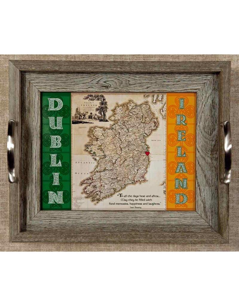 Small Map Of Ireland.Mundo Images Small Tray Vintage Ireland Map Custom