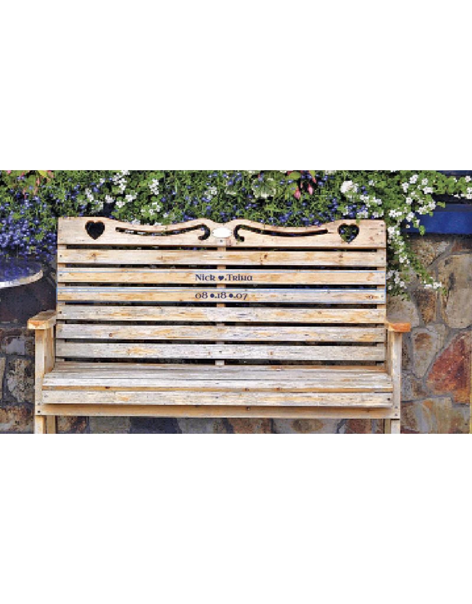 Mundo Images Large Tray:  Wedding Bench Personalized