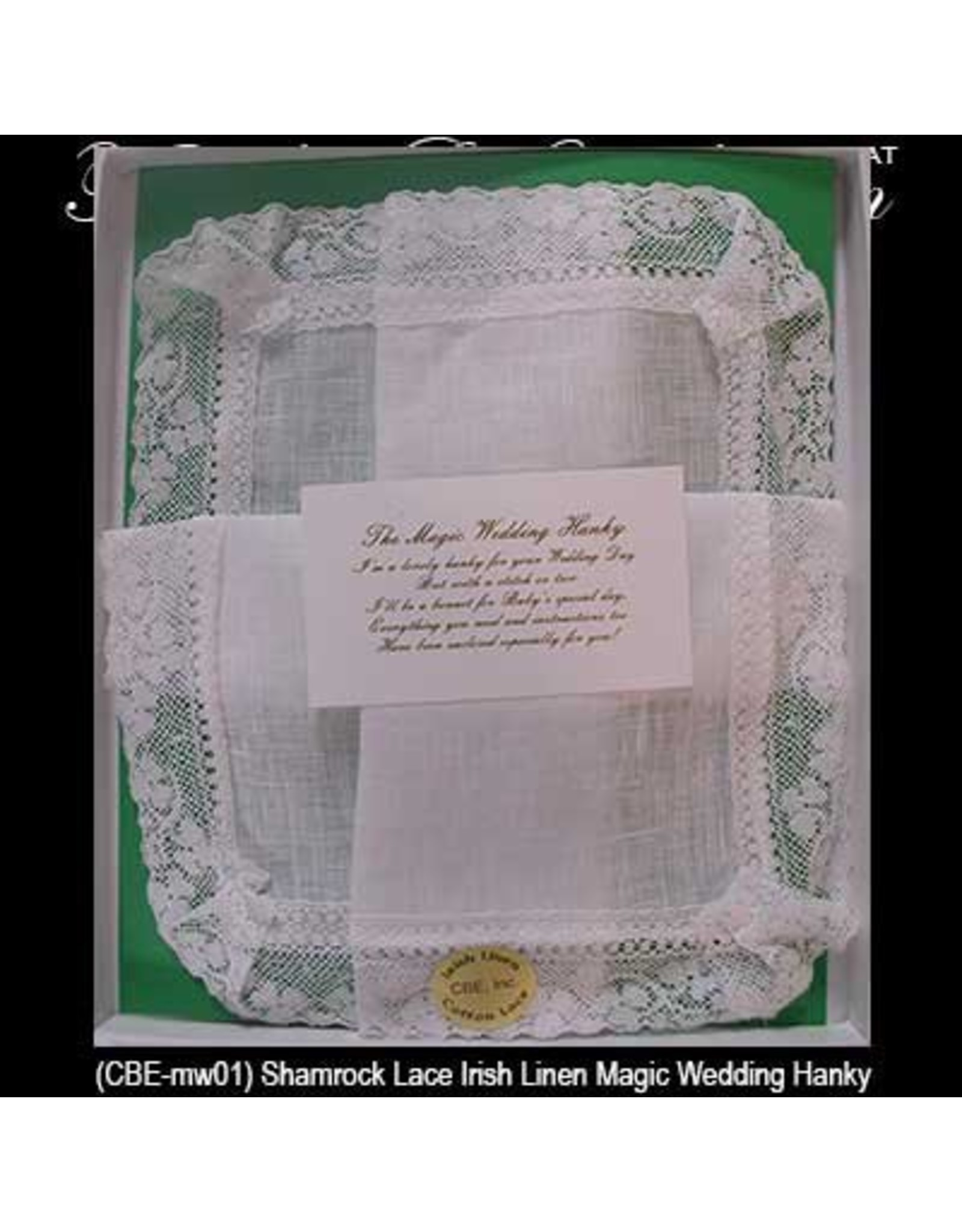 CBE, Inc. Magic Wedding Hankie - Irish Linen