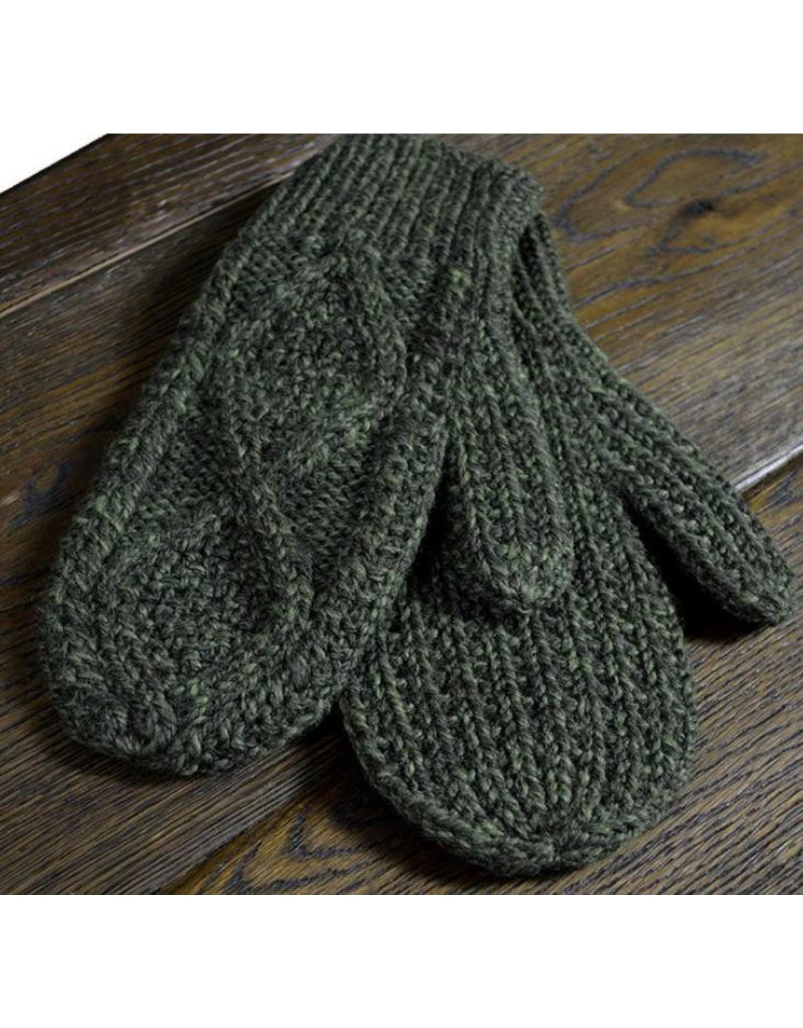 Aran Woollen Mills Handknit Aran Wool Mittens