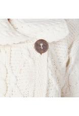 Aran Woollen Mills Patchwork 1 Button Cardigan