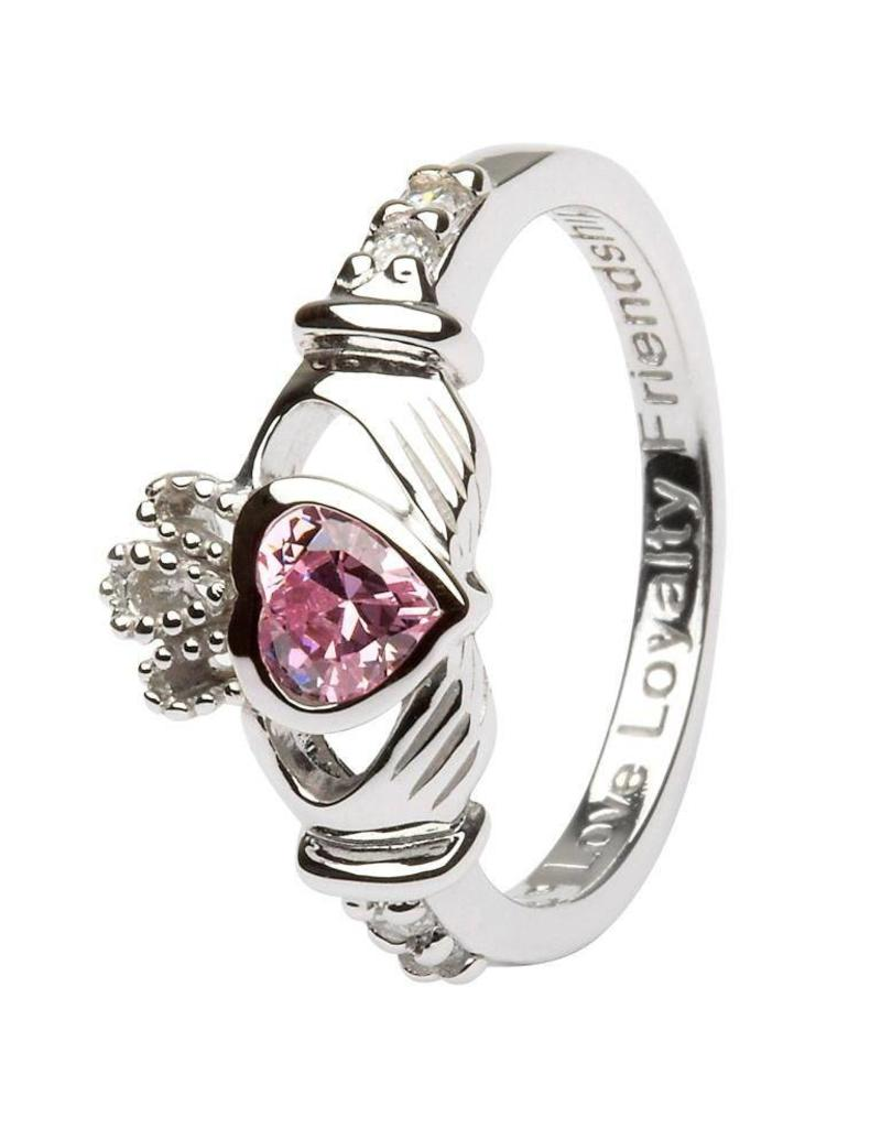 Shanore October Birthstone Claddagh Ring