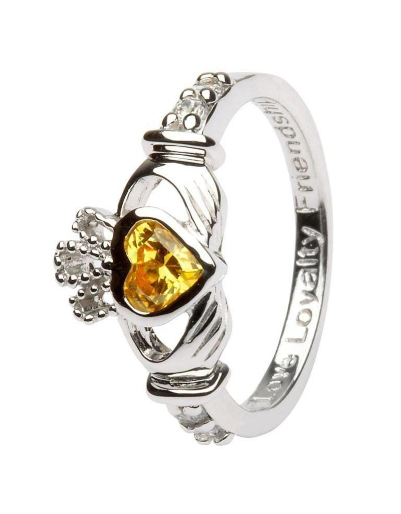 Shanore November Birthstone Claddagh Ring