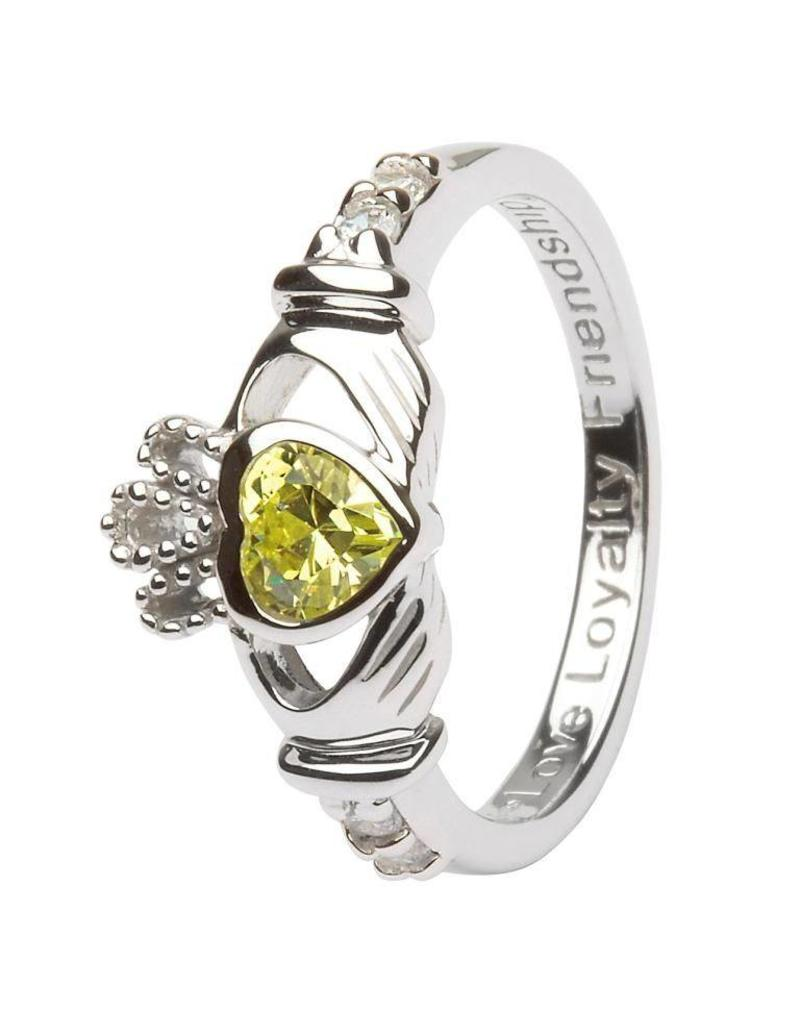 Shanore August Birthstone Claddagh Ring