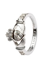 Shanore April Birthstone Claddagh Ring